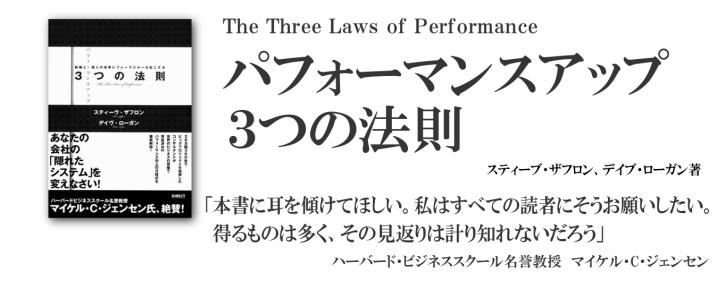 パフォーマンスアップ3つの法則